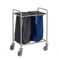 Vozík na sběr špinavého prádla Caddie Trisac 2, na 2 pytle