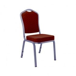Banketní židle AMADEUS, stříbrná/bordó