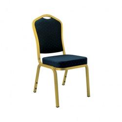 Banketní židle AMADEUS, zlatá/modrá