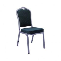 Banketní židle AMADEUS, stříbrná/modrá