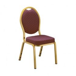 Banketní židle OPERA, zlatá/bordó