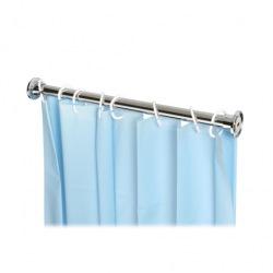 Tyč pro sprchový závěs, 100 cm, chrom