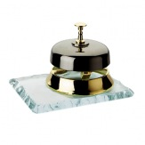 Pultový zvonek 4076, mosaz/sklo