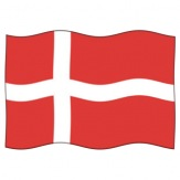 Vlajka Dánsko, 100x150 cm
