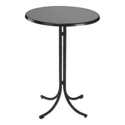 Bufetový stůl Klik-Klak High, průměr 85 cm, výška 113 cm, antracit