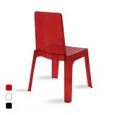 Plastová židle Julia, červená