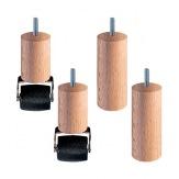 Sada nožiček Premium -4 nožičky,  dřevo, výška 11 cm