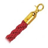 Lano Rope, pletené, červené/zlaté, 150 cm