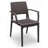 Ratanová židle Capri (Modena) 605196 s područkou, barva hnědá