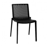 Plastová židle Net Kat, černá