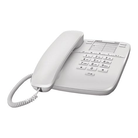 4902 telefon siemens gigaset da310 b l en telephone sets. Black Bedroom Furniture Sets. Home Design Ideas