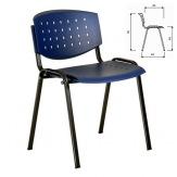 Plastová židle Layer, barva modrá, černý rám