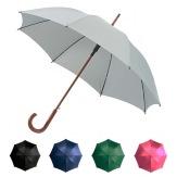 Deštník Express automatický s dřevěnou rukojetí, černá barva