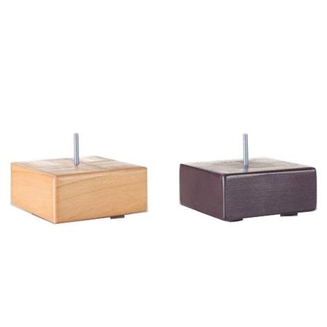 Sada nožiček Design Block - 4 nožičky, dřevo, výška 6,5 cm EN