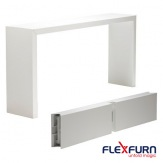 Skládací banketní stůl Titan, hliník, bílá, 70x230x110cm