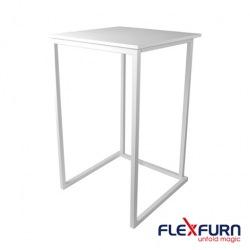 Koktejlový stůl Kubo Smart, bílá, 110x70x70cm