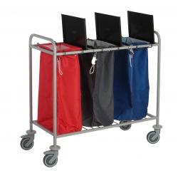 Vozík na sběr špinavého prádla Caddie Trisac 3, na 3 pytle