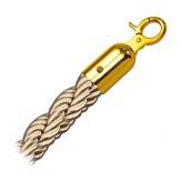 Lano Rope, pletené, champaign/zlaté, 150 cm