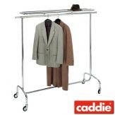 Vozík pro převoz šatstva Caddie Stender Easy HR, chrom