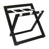 Kufrbox Compact Back Leather, dřevěný, wenge, bílé popruhy