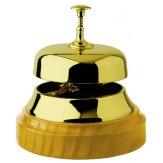 Pultový zvonek 3076, mosaz/světlé dřevo