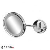 Kosmetické zrcátko Geesa 1088, LED osvětlení, průměr 21,5 cm