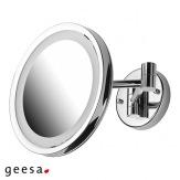 Kosmetické zrcátko Geesa 1093, LED osvětlení, průměr 21,5 cm