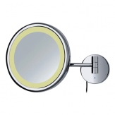 VÝPRODEJ! Kosmetické zrcátko LED-Circle, 5x zvětšení, průměr 21 cm