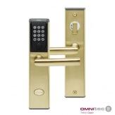 Chytrý zámek Fit-In Code BLE se systémem Rent&Pass, matný zlatý