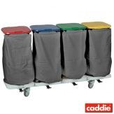 Vozík na sběr prádla Caddie Trisac Alu 4